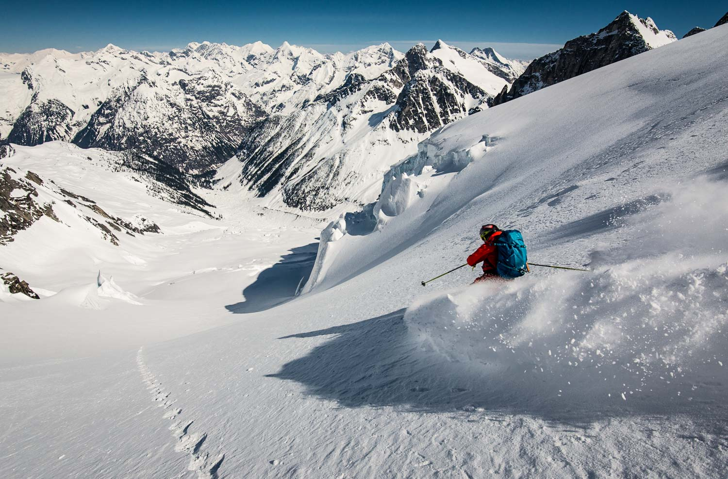Skier: Greg Hill Location: Battle Range, Selkirk Mountains, BC